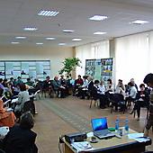 Участники ШК на занятии (2005 год)